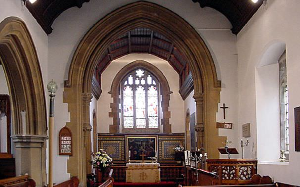 Inside St Wystan's Church, Bretby