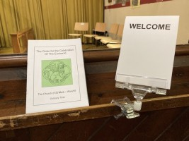 Welcome Sign for Church Pews