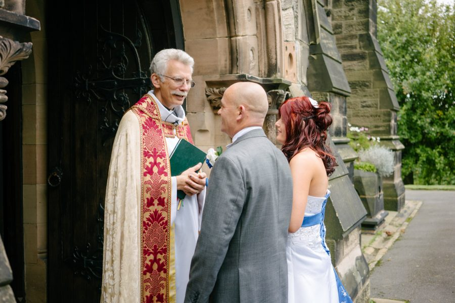 Revd Philip Bosher with Bride