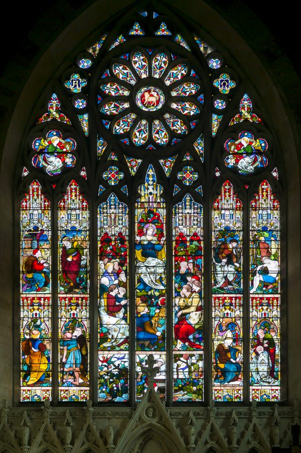 Stained glass window at St Mark's Church